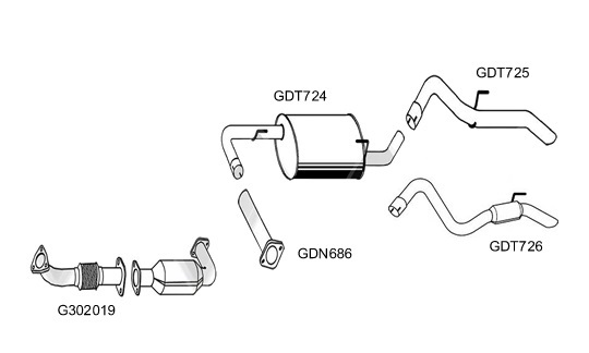 GT Exhausts: Nissan Navara D40 2.5 DCI 4WD YD25DDTI DPF