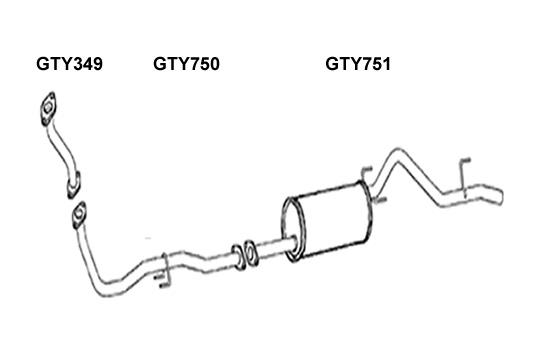 GT Exhausts: Toyota Hi-Lux KUN 25 2.5 Crewe Cab / Pickup