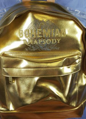 BOHEMIAN RHAPSODY Queen Movie 2018 Promo Embroidered GOLD BACKPACK Promotional