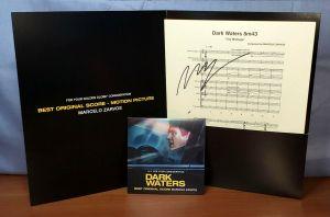 Dark Waters 2019 FYC Promo Sheet Music SIGNED Best Original Score Soundtrack CD