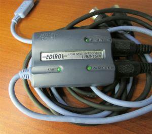 Edirol UM-1SX USB Midi Interface w/ Cables