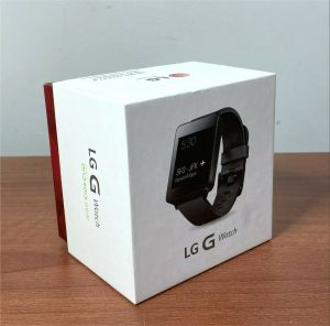 LG LG-W100 G Smart Watch NIB Black Titan Android Waterproof Google Ready