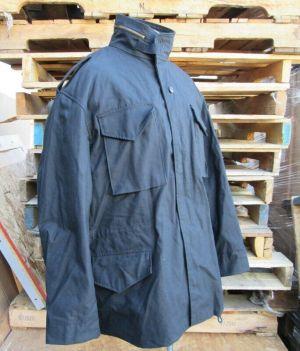 Alpha Industries M 65 Men's Defender Field Coat Jacket Hoody Size XL Black