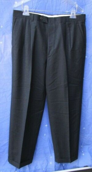 Carroll & Co. Suit Pants Slacks Trousers Dress Pants Dark Gray Wool Fully Lined