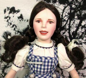 "Franklin Heirloom Dorothy Wizard of Oz Porcelain Doll in Original Box 16"""