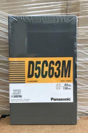 "NEW PANASONIC AJ-D5C63MP XD 1/2"" D5C63M DIGITAL VIDEO CASSETTE"