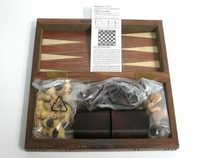 2004 King Arthur Movie Promo FYC Press Kit Wood Chess Set Clive Owen