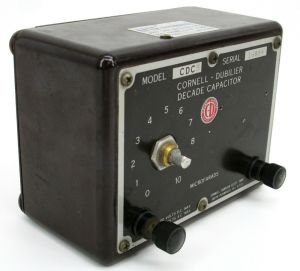 Cornell Dubilier CDC5 Decade Capacitor Substitution Box