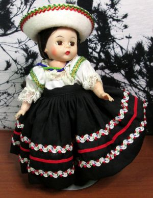 "Madame Alexander 8"" Mexico 576 International Doll w/ Stand Original Box"