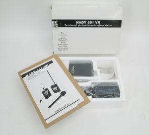 Nady 551 VR 2-Ch VHF Wireless Mic Set Video Camera Camcorder Field Production #3