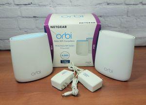 Netgear ORBI Mini RBK22 Whole Home Tri-Band Mesh WiFi System Router + Satellite
