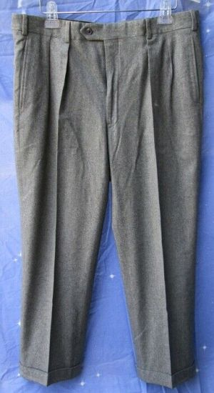 Carroll & Co Suit Pants Slacks Trousers Dress Pants Gray #74 wool Fully Lined