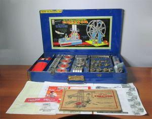 Gilbert Erector Set No 9 1/2 All Electric Automotive Set Blue Box