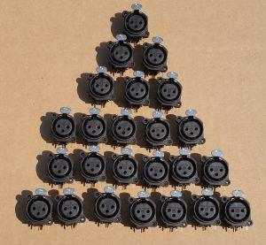 Lot of 24 Neutrik XLR Connector NC3FAH2 3-PIN Female Board Mount