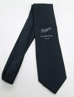 VTG Mens LA Dodgers 1978 Champions Cervantes 100% Polyester Navy Blue Tie