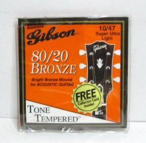 3x Gibson 80/20 Bronze Wound Acoustic Guitar 10/47 Super Ultra Lt SAG-300SUL