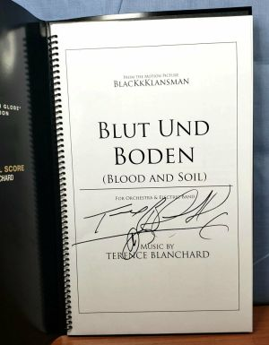 BLACKKKLANSMAN Promo Music Sheet FYC Best Original Score SIGNED Black Klansman *