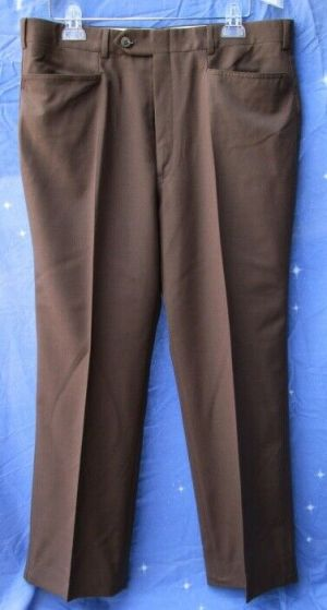 Carroll & Co Suit Pants Slacks Trousers Dress Pants Brown #83  Wool Fully Lined