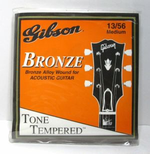 Gibson G-200M Tone Tempered Bronze Wound Acoustic Guitar Strings Med Gauge 13-56