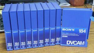 Lot of 10 Sony DVCAM PDV-184N 184 Minute Cassettes New