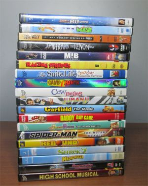 DVD Movie Lot Family Children Action Adventure Shrek 2 Jumanji The Mask MIB