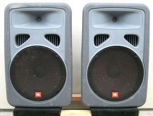 Pair of JBL EON15 2-Way Stage Monitor Speakers 8 OHMS