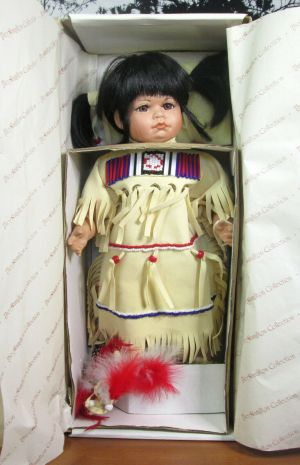 The Hamilton Collection Little Cloud Native American Porcelain Doll 16""
