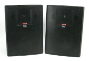 Pair of JBL Control 28 High Output Indoor Outdoor Background Foreground Speakers