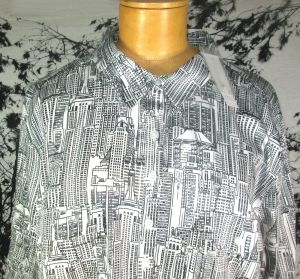 7th Avenue NY and Co Womens Buildings Long Sleeve Button Up Shirt Blouse Size XL