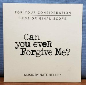 CAN YOU EVER FORGIVE ME ? Movie 2018 FYC Best Original Score Music CD Soundtrack