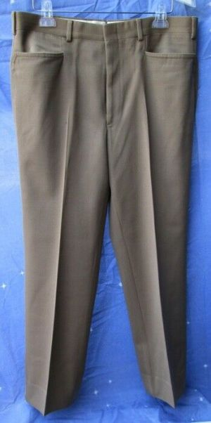 Carroll & Co Suit Pants Slacks Trousers Dress Pants Brown #78  Wool Fully Lined