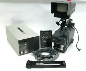 Hitachi Z-4000W Video Camera Triax BCTV Studio Package GM-51 Viewfinder RC-Z3 #2