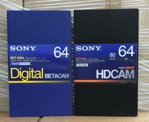Lot of 2 New SONY BCT-64HDL HDCAM BCT-D64L BETCAM CASSETTE