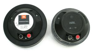 "PAIR of JBL 2425-J 16-Ohm 1"" 25mm Compression Drivers Professional Series #1313"
