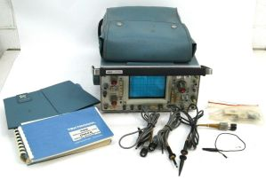 Tektronix 465 Portable Dual Trace 2-Channel Oscilloscope 100MHz w/ Probes Manual