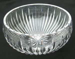 """Vintage Waterford Crystal Round Bowl 6.75"""" Aviemore Decorative Serving Dish"""
