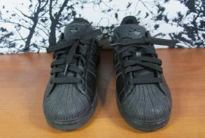 Adidas Original Superstar Men's All Black Sneaker Shoes Size 11 U.S