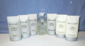 BVLGARI Toiletry Travel Gift Set Shower Gel Lotion Shampoo Conditioner Soap 7-pc