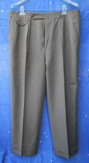 Carroll & Co Suit Pants Slacks Trousers Dress Pants Brown #64 Wool Fully Lined