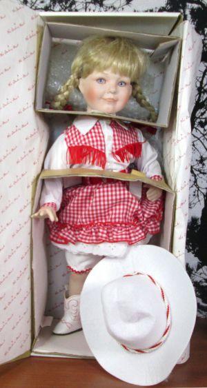 "Danbury Mint Country Line Dancer Amber Porcelain Doll By Karen Scott 19"""