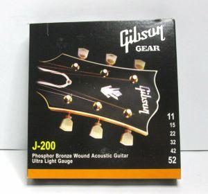 Gibson J-200 Phos Bronze Wound Acoustic Guitar Strings Ultra LT 11/52 SAG-J200UL