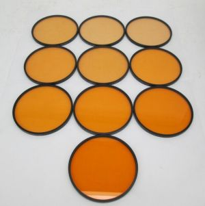 LOT OF 10 TIFFEN 4 1/2 CORAL 1/2 1/4 1/8 1 2 3 4 5 6 7 CAMERA GLASS FILTER