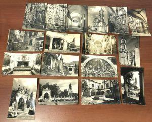 Lot 33 Vtg Basilica Catedral Mexico City Tepotzotlan Black White Color Postcards