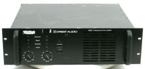 Rack Mount Crest Audio 8001 Professional Power Amplifier 750W/CH @ 8-OHMS Amp