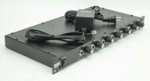 Rack Mount Rane HC6 6-Channel Stereo Headphone Amplifier Console + Power Supply