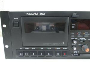 TASCAM 302 DUAL CASSETTE PLAYER RECORDER NEEDS REPAIR