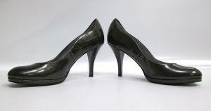 "Tahari Colette Womens Black Green High Heels Pumps Shoes Size 7B US 3.5"" inch"