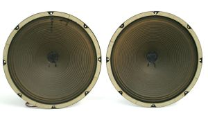 "PAIR of Cleveland 12"" Woofer 8-Ohm Alnico Guitar Speaker 58103-2"