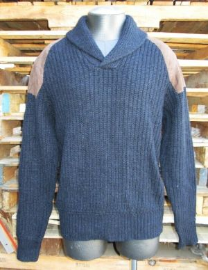 Polo By Ralph Lauren Heavy Knitted Sweater Exclusive Black Navy Size 25