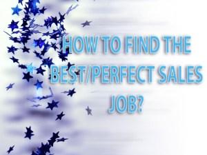 best sales job